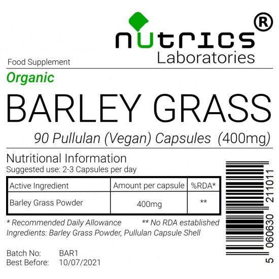 Barley Grass 400mg Capsules