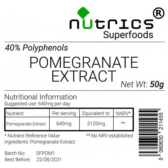 Pomegaranate Extra 40% Polyphenols Vegan Powder