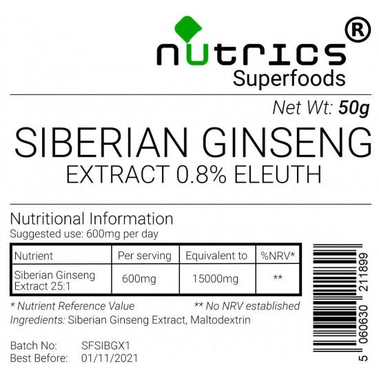 Siberian Ginseng Extract Vegan Powder