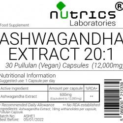 Ashwagandha Root Extract 12,000mg V Capsules