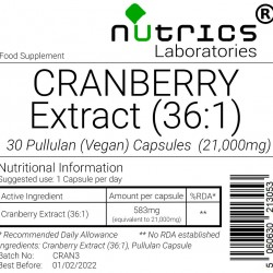 Cranberry Extract 21,000mg V Capsules