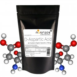 D-Aspartic Acid DAA  750mg V Capsules