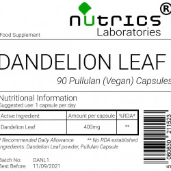 Dandelion Leaf 400mg V Capsules