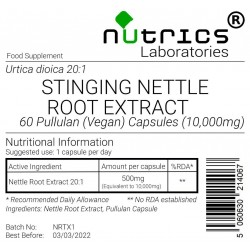 Stinging Nettle Root Extract 10,000mg V Capsules