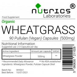 Wheatgrass (Organic) 500mg V Capsules