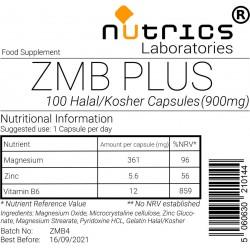 ZMB Plus (Zinc Magnesium & Vitamin B6) 900mg  Capsules