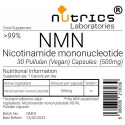 NMN Nicotinamide mononucleotide 500mg 30 capsules certified 99.9% NAD+