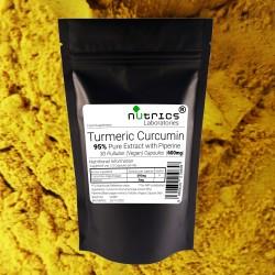 95% Curcumin and Piperine 600mg Capsules