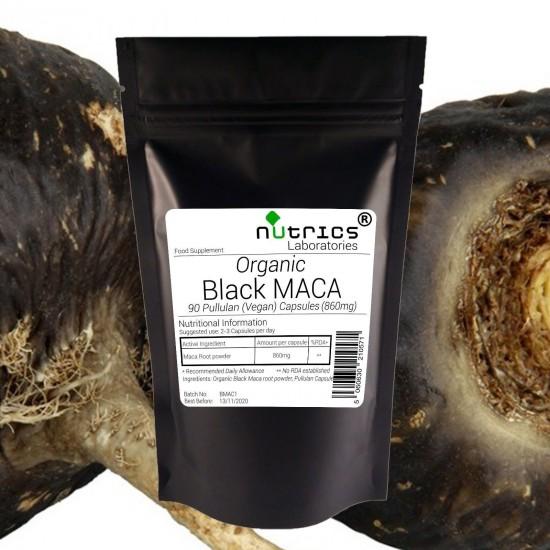 Organic Black Maca Root 860mg Capsules