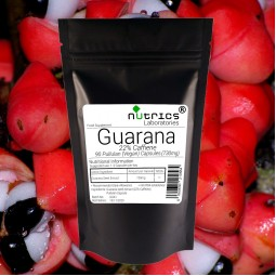 GUARANA Seed Extract 730mg 22% Caffeine 90 Vegan Capsules