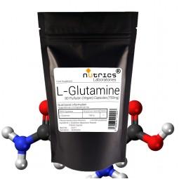 L GLUTAMINE 750mg x 90 Vegan Capsules Anabolic