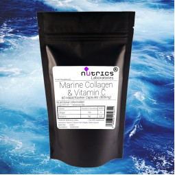 PURE MARINE COLLAGEN VITAMIN C Capsules Anti Wrinkle Anti Ageing 800mg