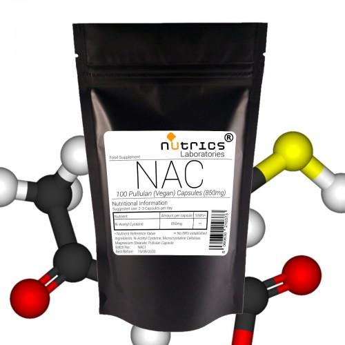 NAC 850mg x 100 N ACETYL CYSTEINE Vegan Capsules