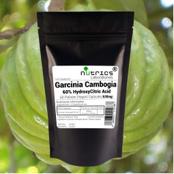 GARCINIA CAMBOGIA EXTRACT 60% HCA STRONG 3780mg 60 Pure Vegan Capsules