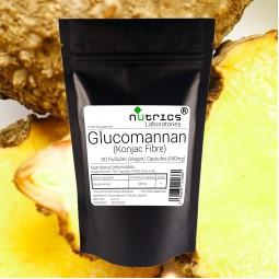 GLUCOMANNAN KONJAC FIBRE 640mg 90 Vegan Capsules 3840mg Daily Dose