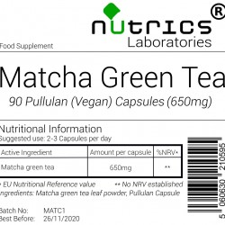 Organic Matcha Green Tea 650mg Capsules
