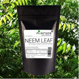 Neem Leaf 650mg x 90 Vegan capsules Detox Immune Booster