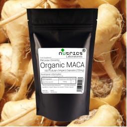 ORGANIC 100% Pure MACA Root 720mg 100 Vegan Capsules