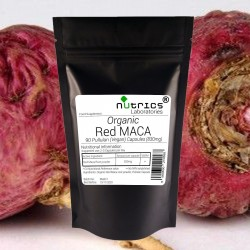Organic Red Maca Root 830mg Capsules