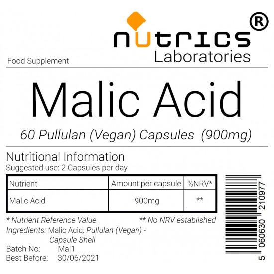 Malic Acid 900mg Capsules