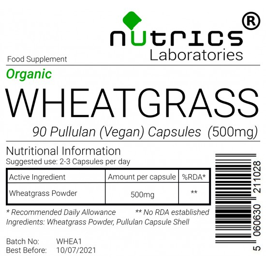 WheatGrass 500mg Capsules
