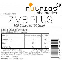 ZMB+ Zinc Magnesium & Vitamin B6 900mg Capsules